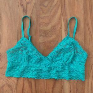 Victoria's Secret   Lace Mint Bralette